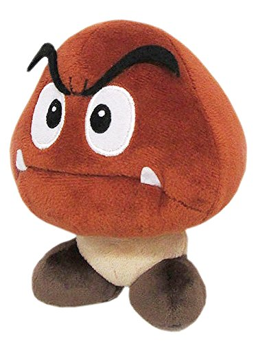 Little Buddy Super Mario All Star Collection 1427 Goomba Stuffed Plush, 5'