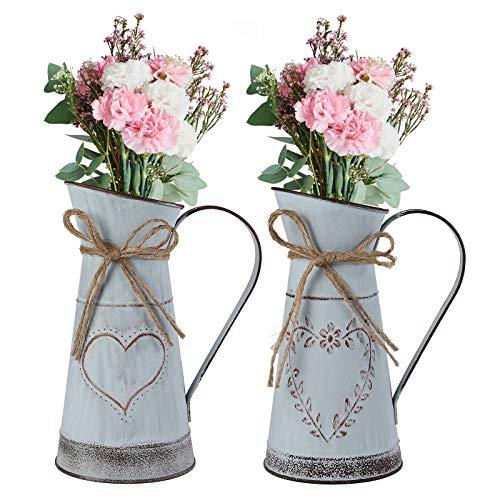 Ulikey Vasi Vintage per Fiori, Brocca per Latte in Metallo Vintage, Pianta Brocche...