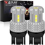 KaTur 7443 7440 7441 W21W T20 Lampadine a LED 12 pezzi 3020SMD Chipset 2800 lumen utilizzati per luce di retromarcia, luce posteriore, luce freno o DRL, Xenon White (confezione da 2)