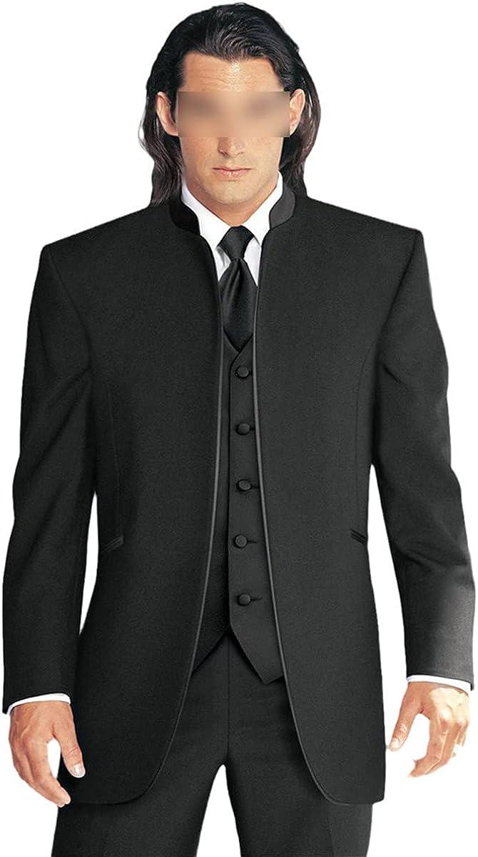 Handsome Classic Custom Black Men's Wedding Suit Groom Suit Three-Piece Slim Suit