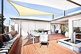 Sunnylaxx Vela de Sombra Triangular 3 x 3 x 3 Metros, toldo Resistente e Impermeable, para Exteriores, jardín, Color Arena