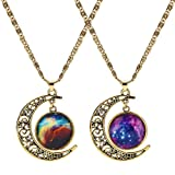 LEGITTA Nebulae Cabochon Friendship BFF Best Friend Necklace of 2...