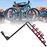 awagas Foldable 4-Bike Hitch Mount Racks, Bicycle Rear Mount Carrier, 4 Slots Bicycle Carrier Rack Rail for Car SUVs Truck Back Rear - Load Bearing 60kg