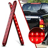 CZC AUTO 16 Inch 11 LED Trailer Light Bar Strip 2 PCS 12V Tail Light Bar Waterproof Red Bar Light for Tail Running Stop Brake Turn Signal Marker Light ID Bar on RV Truck Boat Trailers