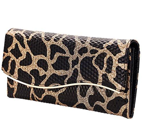 Leopard Mädchen Damen Geldbörse Leder Portemonnaie Geldbeutel Ledertaschen Brieftasche