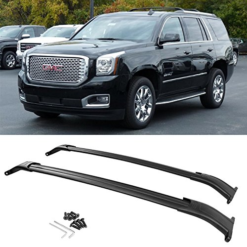 ROADFAR Roof Rack Aluminum Top Rail Carries Luggage Carrier Fit for 2011 2012 2013 2014 2015 2016 2017 2018 2019 2020 Jeep Grand Cherokee 3.0L 3.6L 5.7L 6.2L Baggage Rail Crossbars