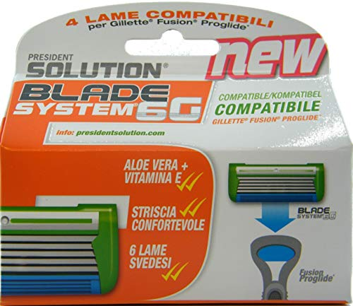 Cuchillas compatibles con Gillette Fusion Proglide (no aptas para el mango Flexball).