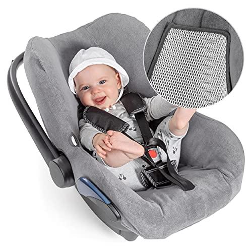 Zamboo Bezug für Maxi Cosi Citi Babyschale - Sommerbezug mit perfekter Passform für Autositz Citi, atmungsaktiv gegen Schwitzen, maschinenwaschbar - Grau (Cool & Dry)