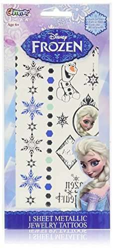 Disney's Frozen Princess Elsa Metallic Jewelry Temporary Tattoo Kit