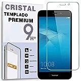 REY Protector de Pantalla para Huawei Honor 5C, Cristal Vidrio Templado Premium