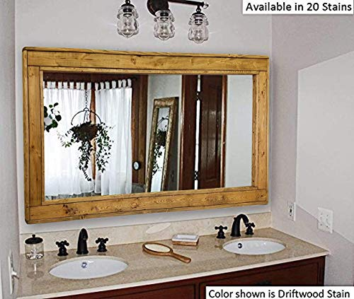 Herringbone Large Mirror Double Vanity Mirror, Available in 20 Colors: Shown in -