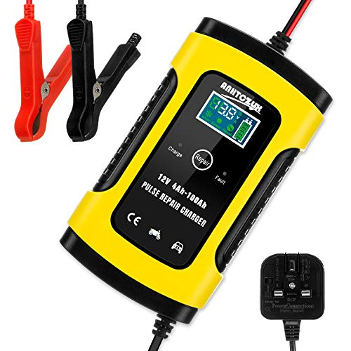 Hutigertech Car Battery Charger & Maintainer 6A 12V Fully Automatic Battery...