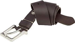 حزام أمان جلدي للرجال من Timberland بني داكن 32