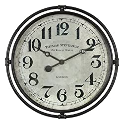 Uttermost Nakul 30 Round Rustic Industrial Wall Clock