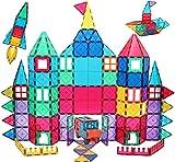 Magnetic Tiles Building Blocks Toy, 130 PCS Clear Colors...