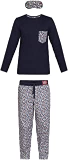 Berty Conjunto de Pijama para niño en algodón orgánico e Antifaz