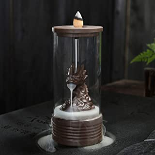 wangstar Backflow Incense Burner with Cones Waterfall Incense Burner Dragon Incense Cones Sticks Holder Ceramic Exquisite ...