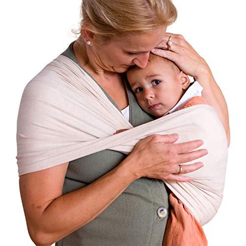 Babytuch - das Tragetuch ohne Knoten * kein Wickeln, kein BInden, kein Knoten * einfach Reinschlüpfen und Kind reinsetzen * ÖkoTex Standard 100 zertifziert * Made in Austria (4, Natur)