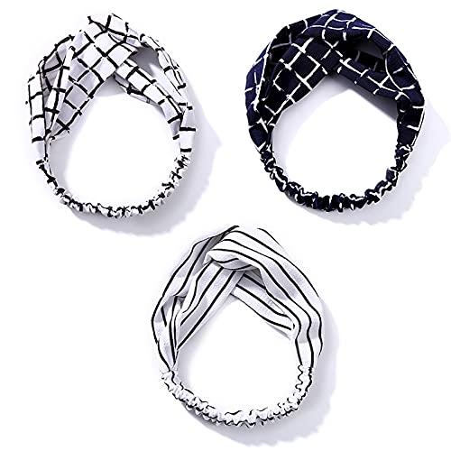 RUIYELE Pañuelos de cabeza elástica con diseño floral, estilo vintage, triángulo, para mujeres y niñas
