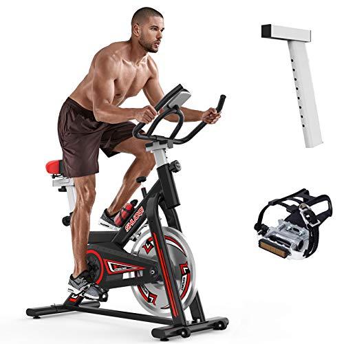 SHUOQI Bicicleta estáticas para Fitness, Bici de Spinning,