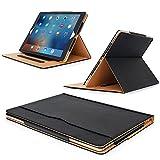 MOFRED® Black & Tan Apple iPad Executive Leather Case for