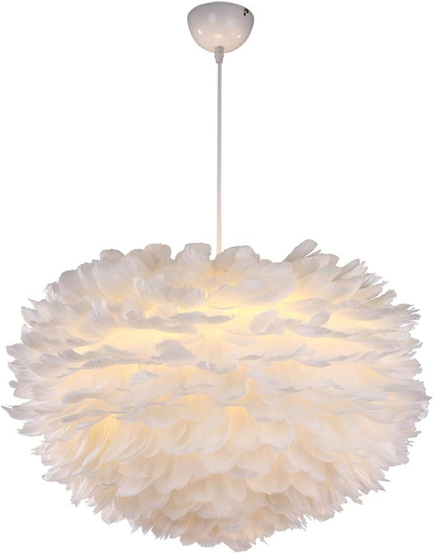 SDFjh Kreative Persnlichkeit Led Schlafzimmer Lampe Net Rot Wei Feder Kronleuchter Moderne Minimalistische Warme Romantische Bar Kronleuchter (gre   30cm)