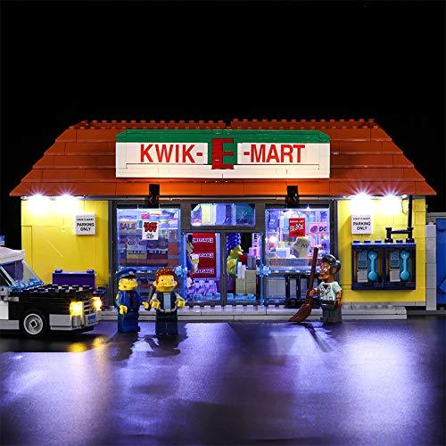K99 Compatible con LED luz para Lego 71016, Building Blocks creador Calle 16004 Simpson Kwik-E-Mart Juguetes (Lego Modelo no está Incluido)