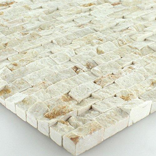 Quarzit Wand Mosaik 3D Brickstones Verblender Anthrazit