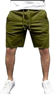 MK988 Men Running Gym Workout Solid Color Shorts Sweatpants