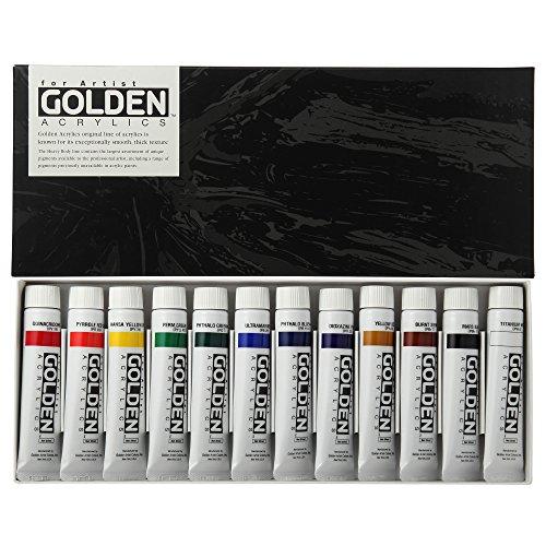 ターナー色彩『ゴールデンアクリリックス20ml12色セット』