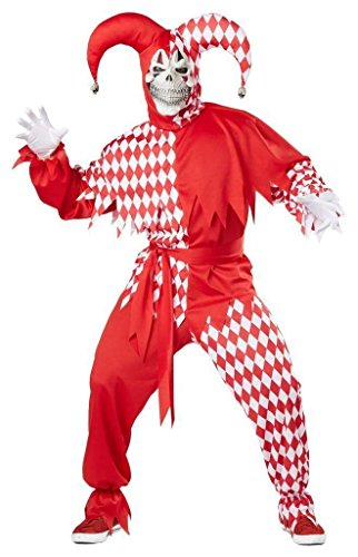 Costume Mauvais bouffon - Grand Taille XXXL - Rouge et Blanc - Carnaval Desguisement