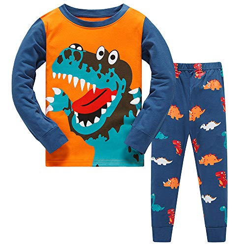 Boys Christmas Pyjamas Dinosaur Nightwear Cotton...