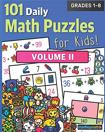 Compare Textbook Prices for 101 Daily Math Puzzles for Kids! Volume 2: For Students in Grades 1-8  ISBN 9798691978081 by Math, Mashup