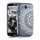 kwmobile Funda Compatible con Samsung Galaxy S3 / S3 Neo - Carcasa para móvil - Protector Trasero Henna Blanco/Transparente