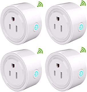 Upgraded Version Wifi Smart Plug,Mini Outlet Compatible with Alexa Google 2.4G WiFi Remote Control Smart Socket Smart Life with Timer Function,No Hub Required (4PACK)