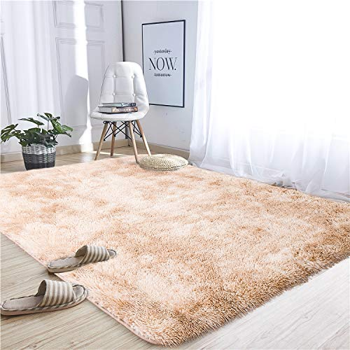 Noahas Abstract Shaggy Rug for Bedroom Ultra Soft Fluffy Carpets for Kids Nursery Teens Room Girls Boys Thick Accent Rugs Home Bedrooms Floor Decorative, 4 ft x 6 ft, Purple