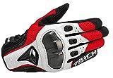 DLOZ RST 391 Sommer-Ineinander greifen Breath GlovesBlack/Blau/Schwarz Rot/Rot Weiß Motorrad-Handschuhe Racing Handschuhe Cross Country Handschuhe (Color : White, Size : XL)