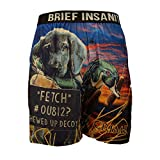 BRIEF INSANITY American Fido Comfortable Loose Fit Boxers | Silky Soft Novelty Underwear for Women & Men (XX-Large, Crime Lab)