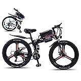 MEETGG Bicicleta eléctrica plegable de 26 '' bicicleta de montaña para adultos 36 V 350 W 13 AH extraíble batería de iones de litio E-Bike Fat Tire frenos de disco doble luz LED