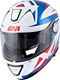 Givi HX23FPTBW54 Casco, Blanco/Azul/Rojo, XS