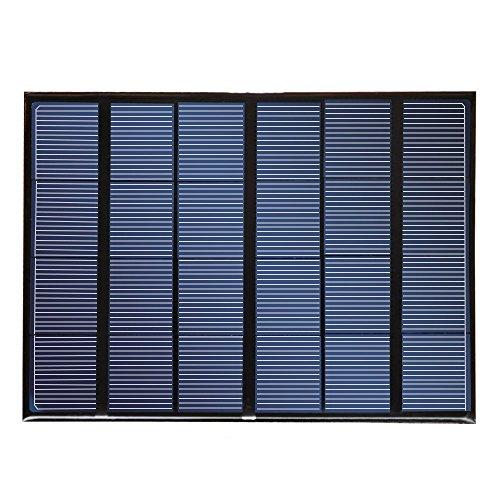 NUZAMAS Poartable Cargador de Panel Solar 6V USB Connecton Power Recharge para teléfono Inteligente al Aire Libre, Camping, Senderismo, Pesca