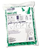 Howard Leight LPF-LS4 Leight Source 400 MAX Lite Uncorded Earplug Dispenser Refill Packs, Polyurethane Foam, Small, Green (Pack of 200)