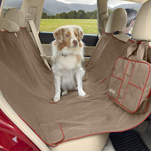 Kurgo Dog Car Seat Cover, Wander Hammock, Water Resistant, Heather Nutmeg, 1.31519274376416 kg