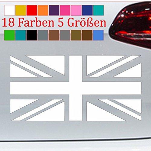 Sconosciuto Great Britain - Adesivo con Bandiera Inglese, 18 Colori, 5 Misure