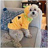 NACOCO Dog Pumpkin Costume Cat Halloween Clothes Puppy Fleece Hoodie Pet Coat for Small to Medium Dogs(M)