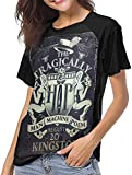 Photo de The Tragically Hip Women's Baseball Short Sleeves Black Raglan T-Shirts Tee T Shirts for Women,L
