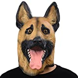 PARTY STORY Super Bowl Underdog German Shepherd Dog Latex Animal Head Mask For Halloween Novelty Costume