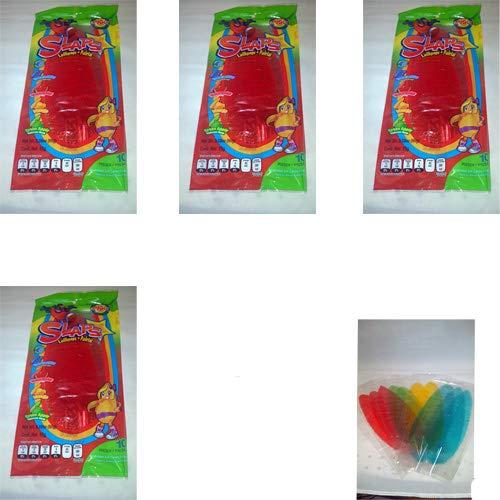 7x10 Slaps Cachepigui (Cachetadas) Tropical Fruit Lollipop Candy (70pc)