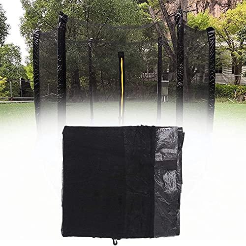 HJCC Red de repuesto para trampolín de seguridad, para trampolín redondo, solo red protectora, red de polietileno fuerte, se adapta a la mayoría de trampolines de jardín al aire libre, 183 cm, 6 polos