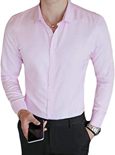 Domple Men's Classic Business Long Sleeve Formal Button Up Dress Shirts